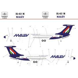 144041 IL-62 M MALÉV decal sheet  / matrica 1:144