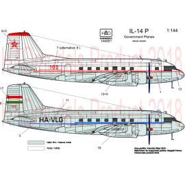 144051 IL-14 P Government plane decal sheet / Kormnánygép matrica 1:144