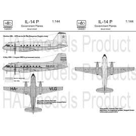 144051 IL-14 P Government plane decal sheet / Kormnánygép matrica 1:144