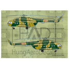 72093 Mi-17 (Hungarian 706, 707) decal sheet 1:72