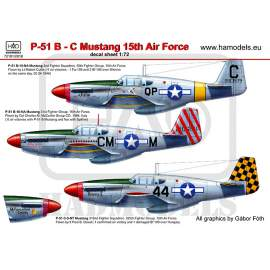 72101/2018 P-51 B Mustang reprint decal sheet 1:72
