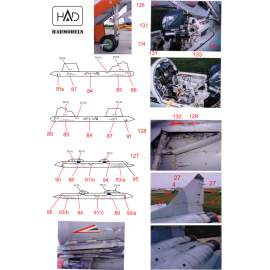72111 MiG-29 Full Russian Stencil decal sheet 1:72