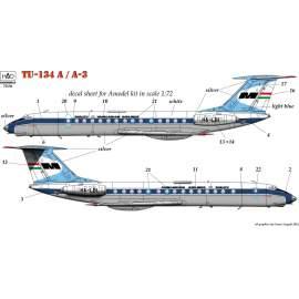 72136 Tu-134A MALÉV decal sheet 1:72