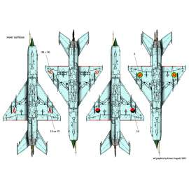 72143 Mig-21MF (HUnAF4405,9606,9510,IndianC2283,AngolanC340,Ethiopian1082,