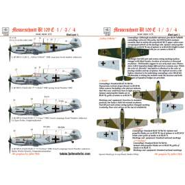 72149 Me Bf 109 E1/3/4 (Kieki, Grace, Fortuna, Motti) decal sheet 1:72