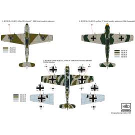 "72150 Me Bf 109 E 1/3/4 part 2 (white 9, White 6, Black 9 ""Schnauzl"", yello"