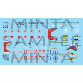 72160 Su-27 Flanker B ( Russia - Air Force) matrica 1:72 decal sheet 1:72