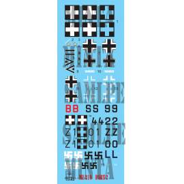 72163 Me 210 part 2 decal sheet 1:72