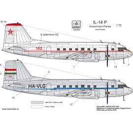 72191 IL-14 P Government Plane decal sheet 1:72