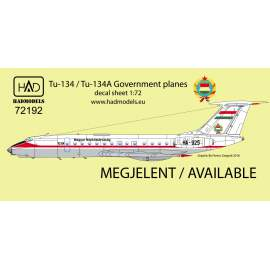 72192 Tu-134 A Kormánygép/government decal sheet 1:72