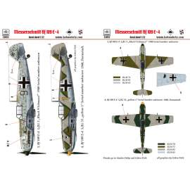 "32052 Messerschmitt Bf 109 E-4 (Black 9 ""schnauzl"" ; yellow 1) decal sheet"