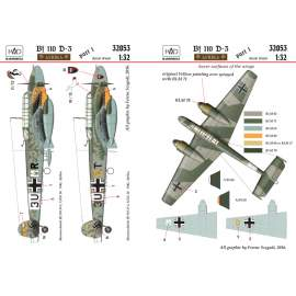 32053 Bf 110 Africa decal sheet 1:32