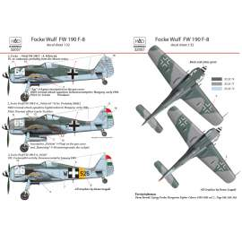 "32057 FW 190 F-8 ( white 64 ""Ági"" ,white 65 ""Pöttöm"", W+526) decal sheet 1:"