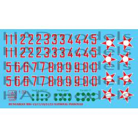 32061 Hungarian National insignias ( Stars and numbers 1950-1990) decal she