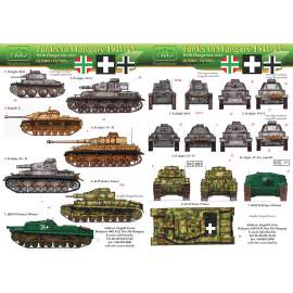 035003 Hungarian WW II part I. Panzer IV, Stug III., Ansaldo  decal sheet 1