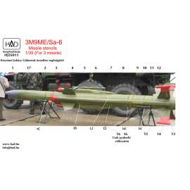 035011 3M9ME/Sa-6 Missiles stencils  decal sheet 1_35