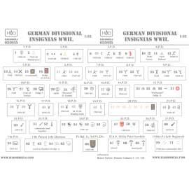 035035 German ww2  Division Symbols ( Dubble sheet) (decal code: 35035) dec