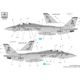 72197 F-14A VF-84 Jolly Rogers USS NIMITZ low visibility decal sheet 1:72