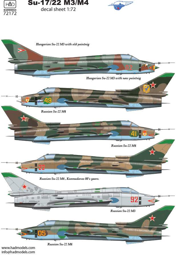 72172 Su-17 / 22 decal sheet 1:72