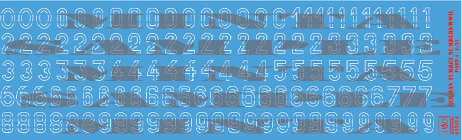 035024 German ww2 turret numbers part 4 (decal code: 03524) decal sheet 1:3