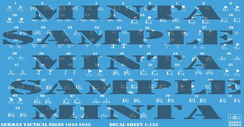 035034 German Tactical insignias 1943-1945 (decal code: 35034) decal sheet