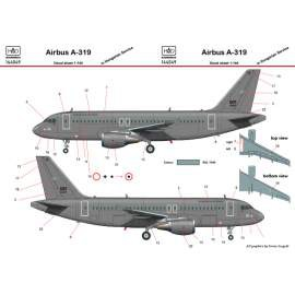 144049 Airbus A-319 in Hungarian Air Force Service decal sheet 1:144