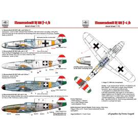 72065 Messerschmitt Bf 109 F-4/b  yellow 17, V-+03, V-+07, yellow 7 decal s