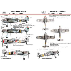72083 FW-190 F-8 red 2; 9; W-517; w505 decal sheet / matrica 1:72