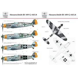 72086 Messerschmitt Bf 109 G-10 decal sheet 1:72