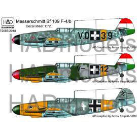 72087/2018 corrected Messershmitt Bf 109 F-4/b decal sheet 1:72