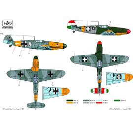 72087/2018 corrected Messershmitt Bf 109 F-4/b decal sheet 1:72