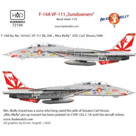 "72194 F-14A VF111 ""Sundowners"" - Miss Molly matrica 1:72"