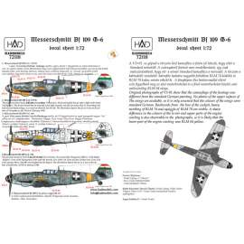 72118 Messerschmitt Bf 109 G-6 (66 Erzsike, red/blue 14; V391)  decal sheet