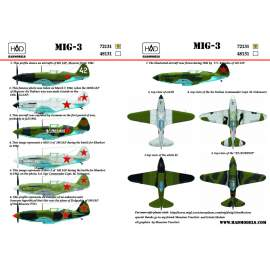72131 MiG-3 decal sheet 1:72