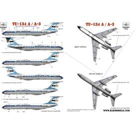72136 Tu-134A MALÉV decal sheet 1:72