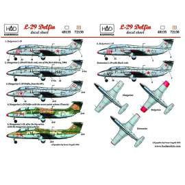 72138 L-29 (Hungarian, Bulgarian, Romanian) decal sheet 1:72