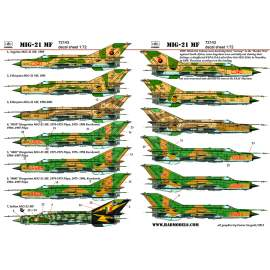 72143 Mig-21MF  decal sheet 1:72