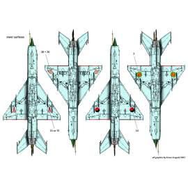72143 Mig-21MF  decal sheet 1:72