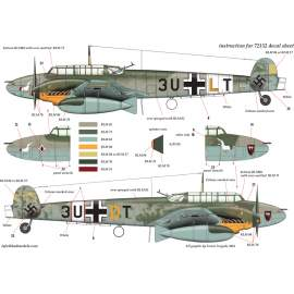 "72152 Messerschmitt Bf 110 D-3 ""Afrika"" Part 1 decal sheet 1:72"