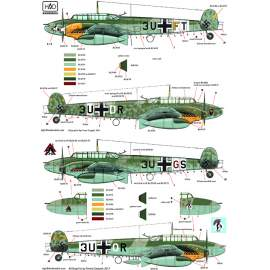 72153 Bf 110 D-3 part 2 decal sheet 1:72