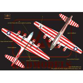 72158 B-17E Birmingham Blitzkrieg USAAF  decal sheet 1:72