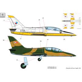 72170 L-39 (Czech 0735, Algerian NL-68, Hungarian 122, 126, 115, 131) decal