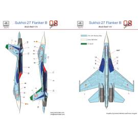 72171 Su-27(Russian 08 shark) decal sheet 1:72