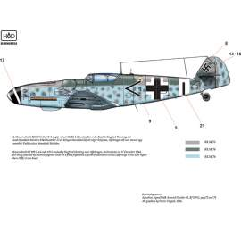 72174 Messerschmitt Bf 109 G-14 (W0+58; Black 1; <2+I)  decal sheet 1:72