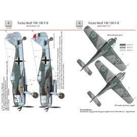 72178FW 190 F-8  decal sheet 1:72