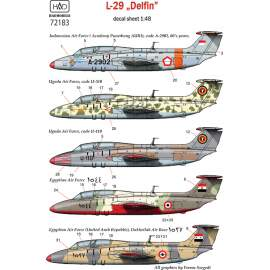 72183 L-29 decal sheet 1:72