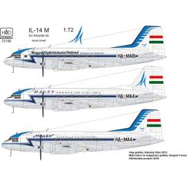 72190 IL-14M Hungarina Air Liner / Air Transport decal shet 1:72