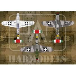 32045 Messerschmitt Bf 109 F-4 yellow 17, V-+03, V-+07, yellow 7)  decal sh