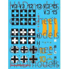 32047 Bf 109 G-2 decal sheet 1:32