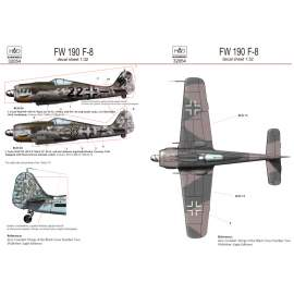 32054 FW 190 F-8 ( German black 22, 33) deal sheet 1:32